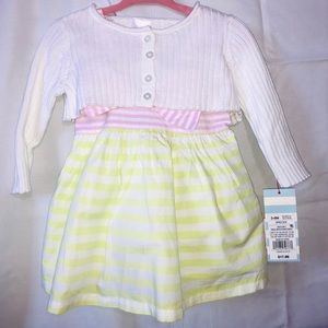 Cat and jack 3-6 mos dress with cardigan